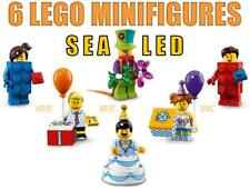 6 Lego Minifigures Series 18 - SEALED ( cake clown birthday party topper gift )
