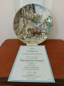 Wedgwood 'Morning In The Farmyard' plate. John L Chapman. Excellent Condition