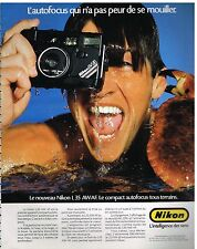 Publicité Advertising 1986 Appareil photo Nikon L35 AW AF