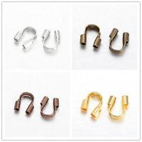 200PCS Brass Wire Guardians Protectors Loops U Shape Accessories for Jewelry