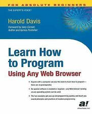 LEARN HOW TO PROGRAM - DAVIS, HAROLD - NEW PAPERBACK BOOK