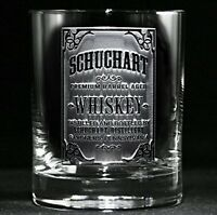Custom Whiskey Label Glasses, Engraved Bourbon Glasses SET OF 4 (wskylabel)