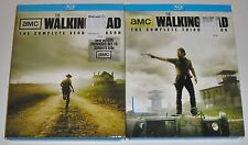 Horror Blu-ray Lot - The Walking Dead The Complete Second & Third Seasons (Used)