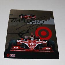 Dan Wheldon IRL  Signed Autographed Team Photo Card Ganassi Target Racing