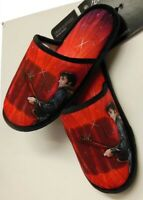 New Red Slippers Elvis Presley One Size Slip On 68 Comeback Guitar Photo NIP NWT