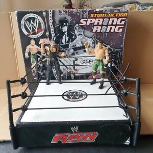 WWE Stunt Action Spring Ring & John Cena Undertaker Figures Wrestling Ring 2007