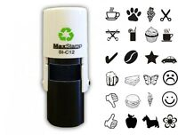 Loyalty Card Rubber Stamp Self Inking Small Pocket Sized With Cap Maxstamp C12