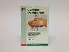 Curapor Pflaster Wundverband transparent 7 x 5cm  5 Stück keim- und wasserdicht