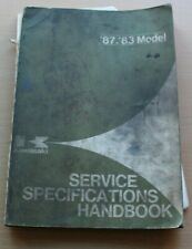 OE KAWASAKI MOTORCYCLE SERVICE SPECIFICATIONS MANUAL 87-83