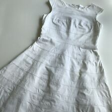 CALVIN KLEIN White Sleeveless Women's Cotton Lined Fit &Flare Dress SZ 12-14 (?)