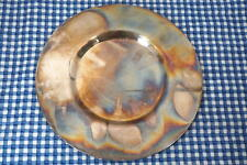 Petrossian Art Deco Plate Server Platter France Colorful Oxidation Silverplate?