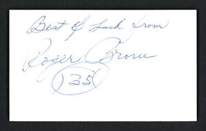 "Roger Brown Autographed Signed 3x5 Index Card Pacers ""Best Of Luck"" JSA P68768"