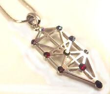 Kabbala Jewish Tree Of Life Judaica Necklace Pendant Silver 10 Shephirot