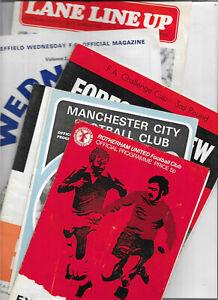 Bundle 9 programmes 1970s Sheffield Wed Southampton Man City Newcastle etc