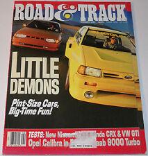 Road & Track Magazine Vol 42 No 6 February 1991 Little Demons Pint-Size Cars