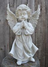 Großer Engel steingrau stehend betend Grab Figur Schutzengel Grabengel Neu