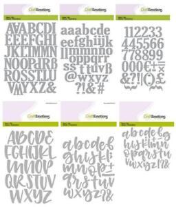 Stanzschablone Alphabet 2,2 cm, Buchstaben Zahlen, Craftemotions