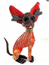 CHIHUAHUA ALEBRIJE HAND-PAINTED WOOD CARVING  - OAXACA, MEXICO