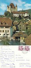 1981 PANORAMA OF THUN SWITZERLAND COLOUR POSTCARD