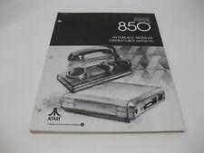 Vintage Computer 1980 Atari 400 / 800 Interface Module 850 Manual