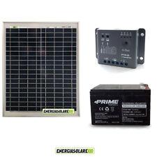 Kit pannello solare fotovoltaico 20W 12V Regolatore PWM 5A Epsolar Batteria AGM