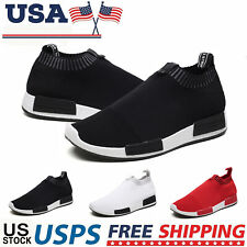 Men's Slip-On Sneakers Fashion Lightweight Athletic Tennis Running Walking Shoes