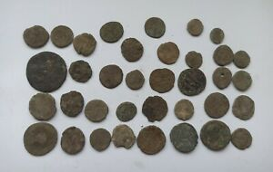 LOT OF 36 ANCIENT ROMAN IMPERIAL BRONZE COINS III-V Century AD