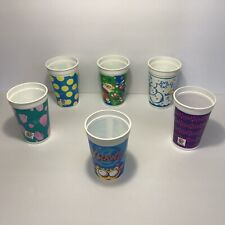 Vintage Mixed Lot of 6 Pizza Hut Plastic Collectible Kid's Drink Cups 1990's