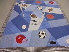 Nice Handmade Applique Sports Quilt