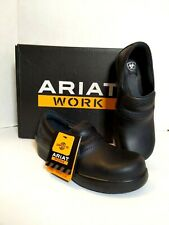 Ariat Work Shoe Womens Size 7 Clog Safety Composite Toe Slip Resistant Black NEW