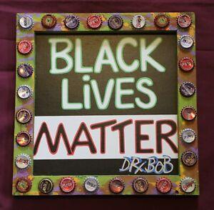 BLACK LIVES MATTER Signed Giclee Print New Orleans Louisiana Folk Art by DR. BOB