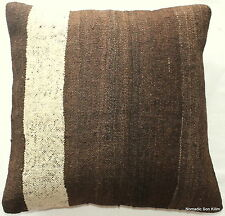 (45*45CM, 18 INCH) Turkish handwoven kilim cushion cover undyed natural 1