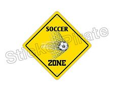"""*Aluminum* Soccer Zone Funny Metal Novelty Sign 12""""x12"""""""