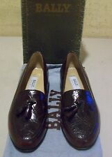 New CROCODILE w/calf leather Bally Royce 9 M burgundy (3572)
