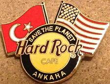 "Hard Rock Cafe ANKARA 2000 USA & Turkey Flags ""STP"" HRC Logo PIN - Catalog #286"
