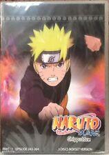 Naruto Shippudden: Part 11 3-Disc DVD Set Episode 243-264 LIKE NEW/RESHRUNK