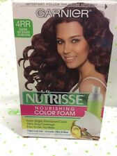 Garnier Nutrisse Nourishing Color Foam 4RR Dark Intense Auburn Hair color NEW