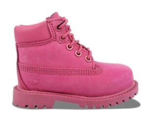 """Timberland 6 In Premium Baby Boots Pink Rose TB0A148L NEW IN BOX 6"""" Inch"""