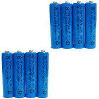 8 pcs AAA 1800mAh Ni-Mh 1.2V rechargeable battery Cell for MP3 RC Blue US Stock