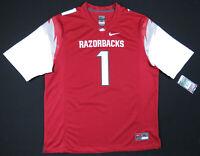NWT Arkansas Razorbacks Nike Team Authentic NCAA Football Mens #1 Jersey XL