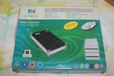 """Kingwin Black 3.5"""" USB 2.0 Aluminum External Hard Drive Enclosure MS-350U-BK"""