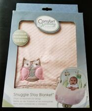 Comfort & Harmony Snuggle Stay Bouncer and Swing Blanket Pink Owl