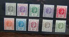 Mauritius 1938 - 49 values to 5r MM (2c 3c 4c Unused)