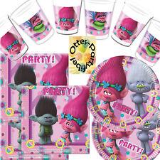 Trolls 52-teiliges Partyset Trollparty für 16 Poppy und Branch Fans