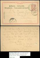 1901 GERMANY, WURTTEMBURG UPU 10pf Postcard to CALCUTTA INDIA, SEA POST Cancel!