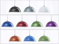 Retro Round Domed Metal Ceiling Pendant Light Shade Lampshade Easy Fit Cafe Bar