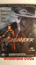 Highlander- Widescreen Edition [ DVD ] Region 4, LIKE NEW, FREE Next Day Post-