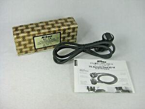 Nikon SC-14 TTL Remote Cord w/ Box & Manual