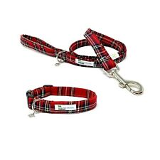 Red Tartan, Royal Stewart Dog Collar and Lead Set