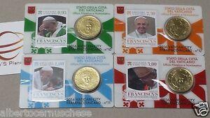 4 x 50 cent 2 euro coin card N 10 11 12 13 Vaticano 2016 Vatican Vatikan Ватикан